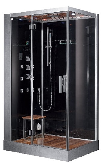 Ariel Platinum DZ959F8-BLK-L Steam Shower