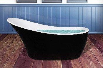 AKDY Acrylic Freestanding Oval Soaking Bathtub