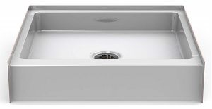 Bestbath 30″ x 30″ Step-in Shower Base/Pan - 6″ Curb Height - Center Drain - White