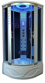 "Modern Corner Steam Shower 36"" x 36"" with foot massager hand shower and so on"