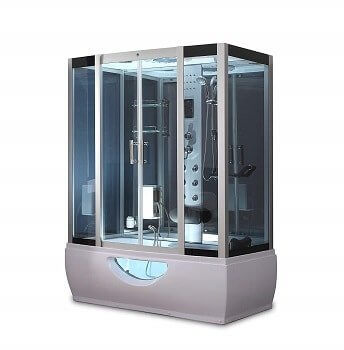 "OB 58"" x 33"" Soaking Base Steam Shower Enclosure With Everything you need"