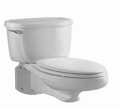 American Standard 2093.100.020 Glenwall Pressure Assisted Elongated Wall-Mounted Toilet