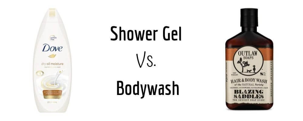 shower gel vs. body wash